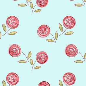 posies - pink and aqua