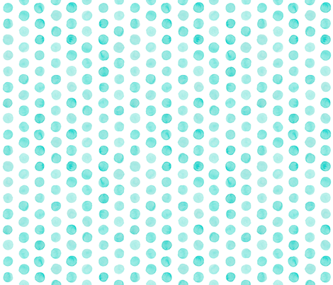 Watercolor Dots: Pale Turquoise fabric by nadiahassan on Spoonflower - custom fabric