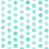 Watercolor Dots: Pale Turquoise