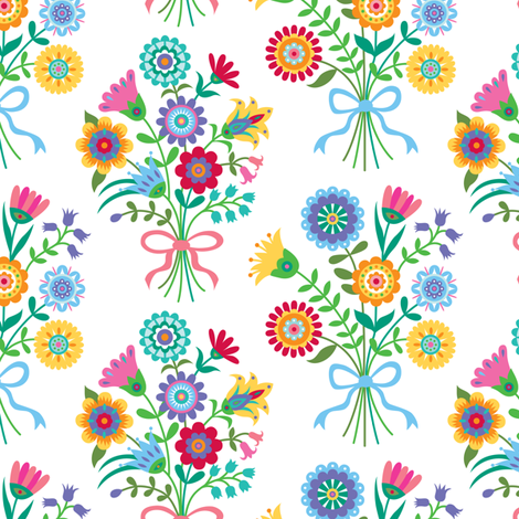 Flower Bouquet fabric by andibird on Spoonflower - custom fabric