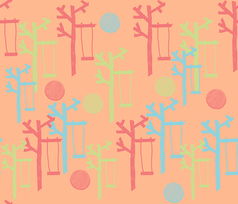 Swing Forest fabric by anniedeb on Spoonflower - custom fabric
