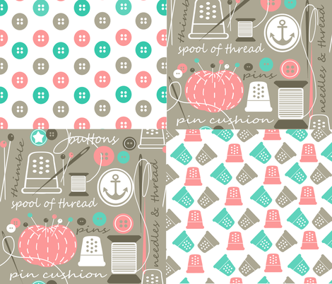 Notion Commotion 2014 fabric by simple_felicities on Spoonflower - custom fabric