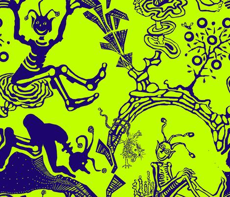 cosmic-alien-green fabric by wren_leyland on Spoonflower - custom fabric