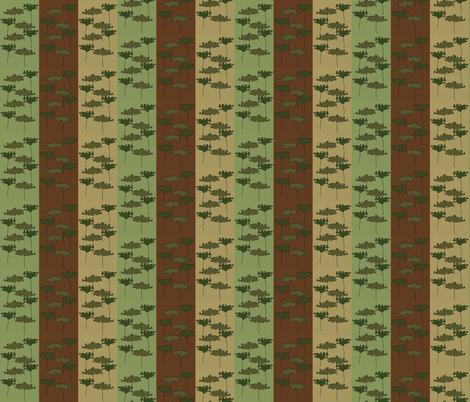 Two Trees in Vertical Stripes fabric by anniedeb on Spoonflower - custom fabric