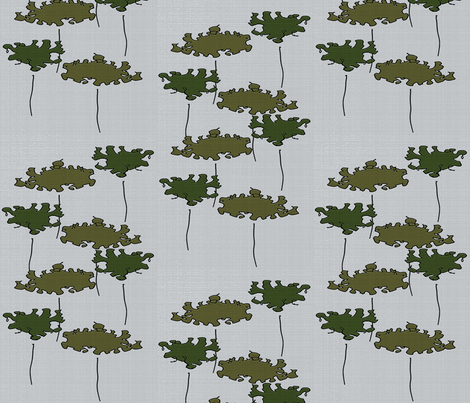 Two Trees 3 fabric by anniedeb on Spoonflower - custom fabric