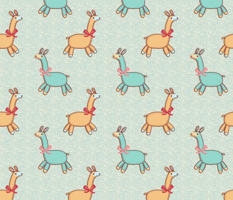 Stuffed llamas fabric by designed_by_debby on Spoonflower - custom fabric