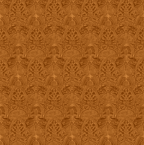 Alhambra Chestnut fabric by amyvail on Spoonflower - custom fabric