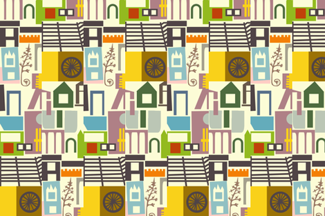 Village fabric by boris_thumbkin on Spoonflower - custom fabric