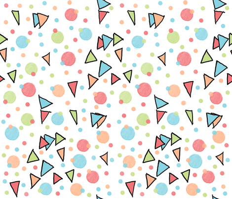 Swing Triangles and Dots fabric by anniedeb on Spoonflower - custom fabric