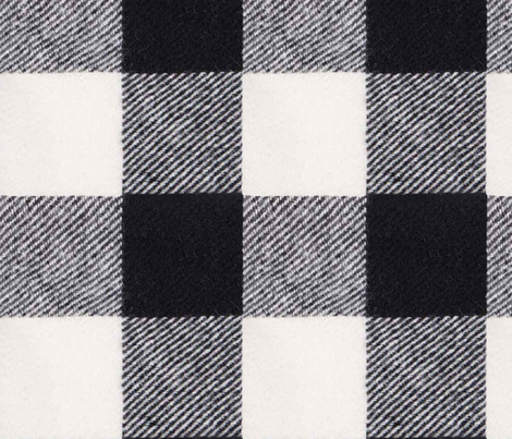Buffalo Check in Ebony fabric by willowlanetextiles on Spoonflower - custom fabric