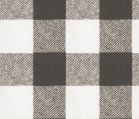 Buffalo Check in Cashmere Gray fabric by willowlanetextiles on Spoonflower - custom fabric