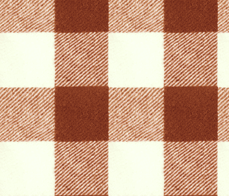 Buffalo Check in Brick Red fabric by willowlanetextiles on Spoonflower - custom fabric