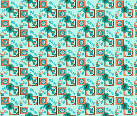 Surf's Up: in Search of the Perfect Wave fabric by sombrilla on Spoonflower - custom fabric