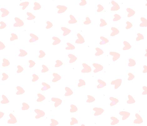 Blush Hearts by C'EST LA VIV fabric by @vivsfabulousmess on Spoonflower - custom fabric