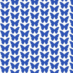 butterfly in deep perriwinkle blue