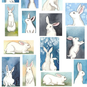 Bunnies on White