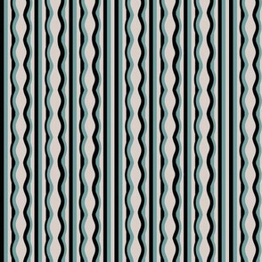 Distorted Stripes Teal