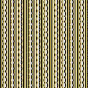Distorted stripes mustard