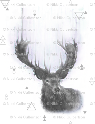 The Stag // water color deer // buck // nicholefranklindesigns