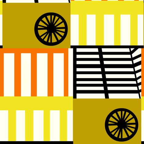 Circus Train Patchwork fabric by boris_thumbkin on Spoonflower - custom fabric