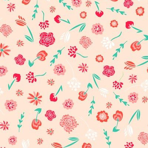 Blush Space Folk Floral