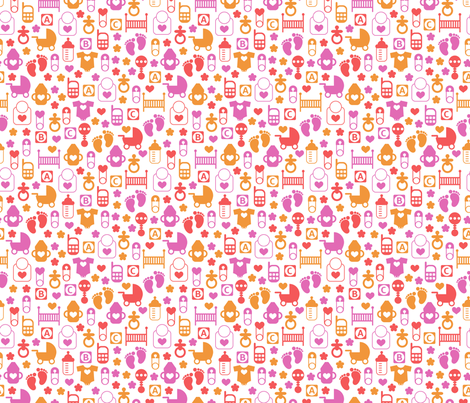 Baby Pattern fabric by valendji on Spoonflower - custom fabric