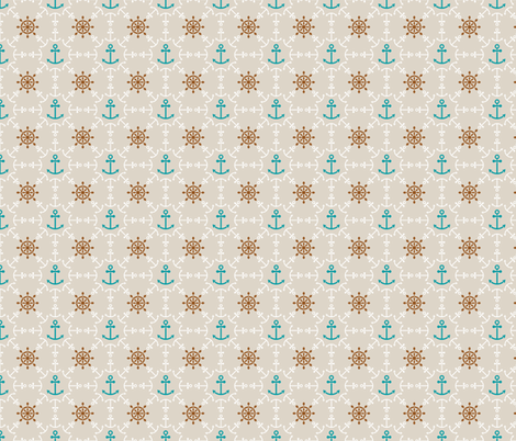 Anchors and Hand Wheels fabric by valendji on Spoonflower - custom fabric
