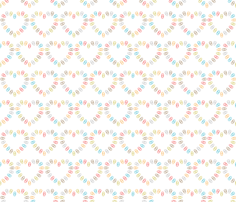 Hearts of paper clips fabric by valendji on Spoonflower - custom fabric