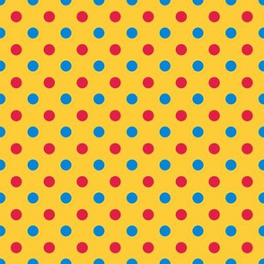 Medium dots -carnival colors