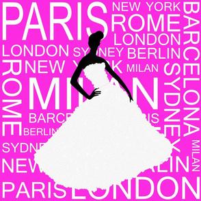 fashion capitals hot pink
