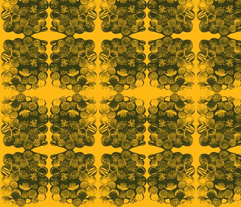 vintagebuttons-orange fabric by amyjeanne_wpg on Spoonflower - custom fabric