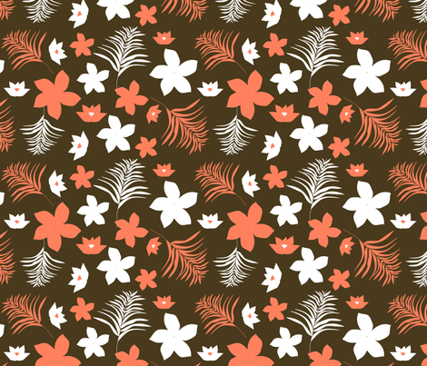 pacific floral  fabric by kociara on Spoonflower - custom fabric