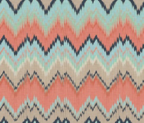 Custom Ikat Chevron fabric by willowlanetextiles on Spoonflower - custom fabric