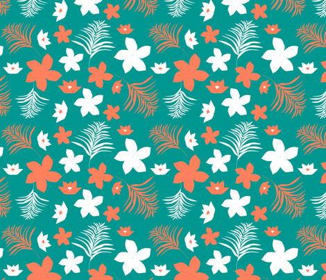 pacific florals 2 fabric by kociara on Spoonflower - custom fabric