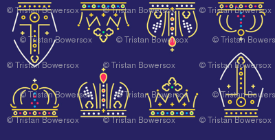 Royalty: Crowns ABCD Rows