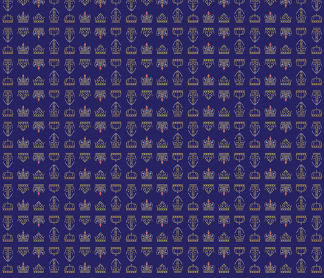 Royalty: Crowns ABCD Rows fabric by asbestosbill on Spoonflower - custom fabric