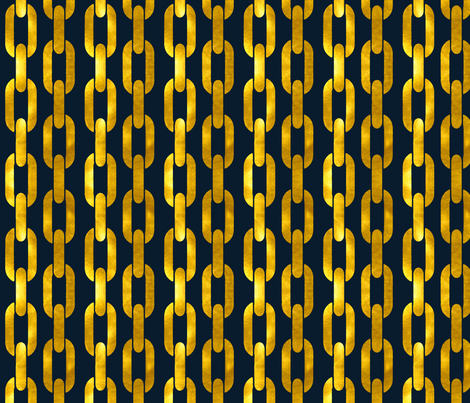 Nautical Gold Chain fabric by willowlanetextiles on Spoonflower - custom fabric