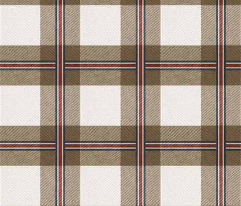 Buffalo Plaid in Saddle fabric by willowlanetextiles on Spoonflower - custom fabric