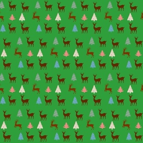 deer in christmas forest