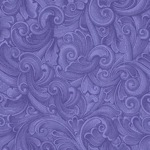Engraved Swirls 7 Periwinkle