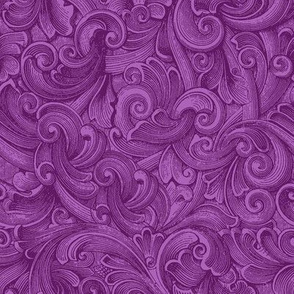Engraved Swirls 12 Purple