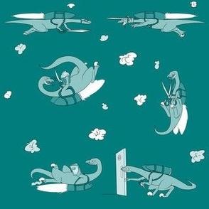 Raptors with Jetpacks and Scissors
