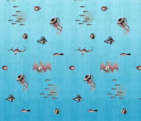 Dreamy Sea Ombre fabric by willowlanetextiles on Spoonflower - custom fabric