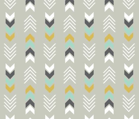 newArrowsLightGrey fabric by milchundhonig on Spoonflower - custom fabric