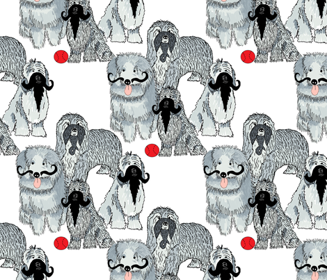 Beards and mustaches fabric by linsart on Spoonflower - custom fabric