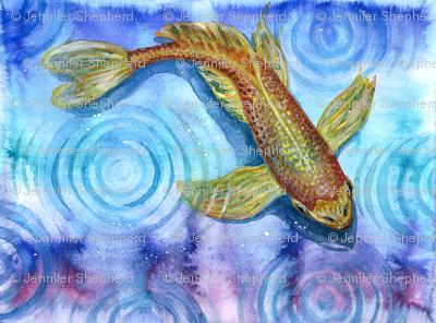 Watercolor Koi 1