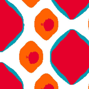Easy Peasey     -LARGE   -red, orange, and turquoise