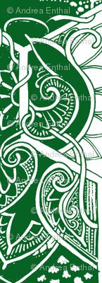 Art Nouveau Christmas (green half)