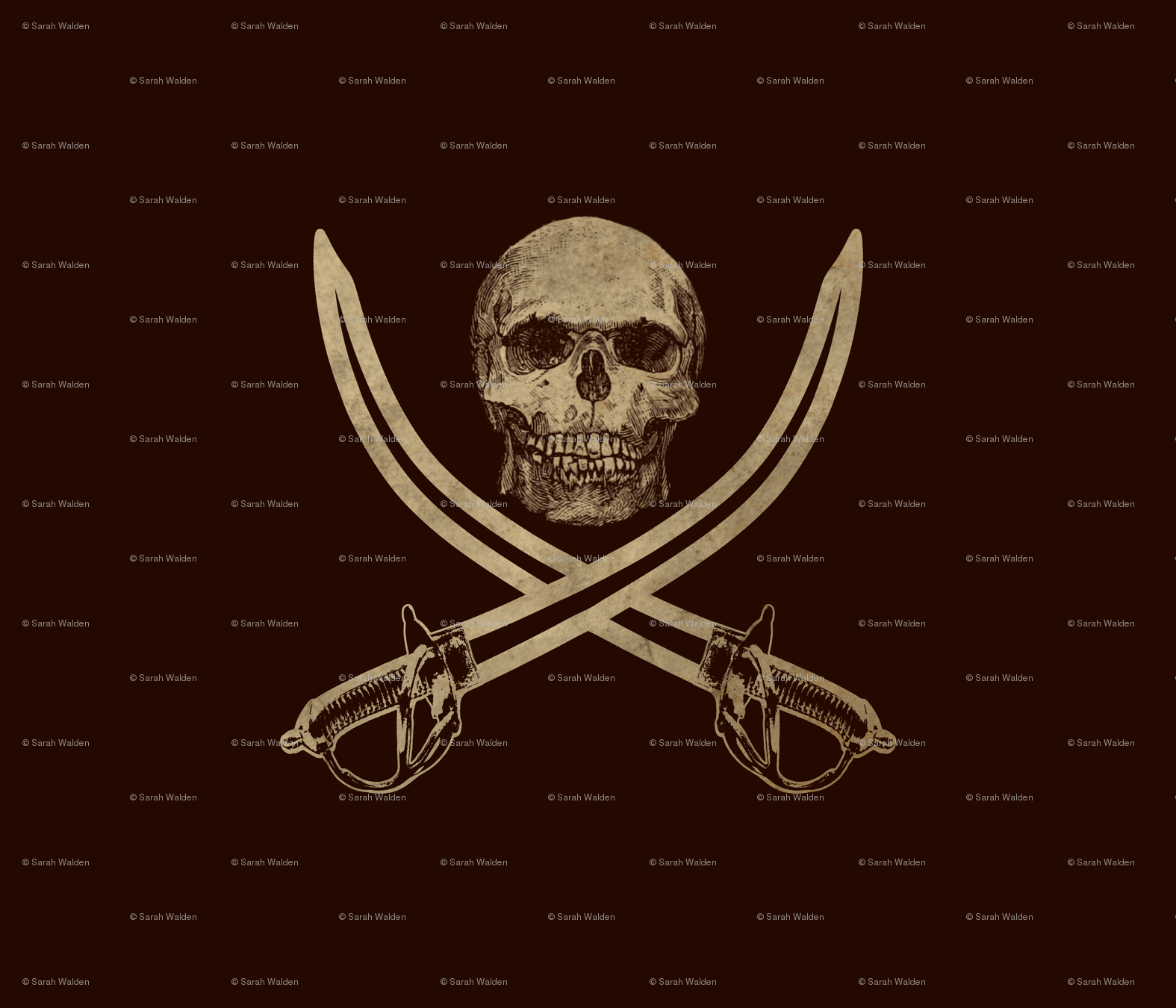Mouldering Ol\' Jolly Roger Pirate Flag fabric - peacoquettedesigns ...