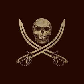 Mouldering Ol' Jolly Roger Pirate Flag